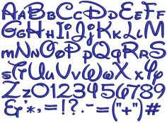 alphabet styles lettering | Mollygram offers many different embroidery fonts on your custom made ...
