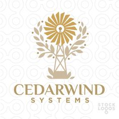 Cedar Windmill Agriculture   StockLogos.com wind, dutch, mill, tower, generator, agriculture, power, landmark, rotation, electricity, ecology, propeller, crop, harvest, cultivation