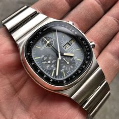 Vintage Omega Speedmaster 176.0014 TV Dial Lemania Auto Movement | eBay