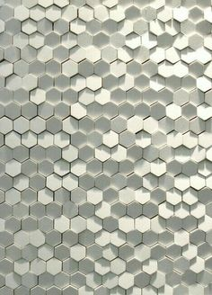 I like the honeycomb pattern and the way the light is reflected in the image, giving it texture. MoreI like the honeycomb pattern and the way the light is ref. Deco Design, Wall Design, Facade Design, Design Art, Textures Patterns, Color Patterns, Wall Textures, Honeycomb Tile, Honeycomb Pattern