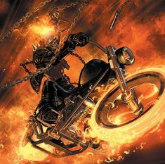 Ghost Rider by Clayton Crain Marvel Comics Art, Marvel Heroes, Marvel Comic Character, Character Art, Marvel Characters, Comic Books Art, Comic Art, Book Art, Ghost Rider Pictures