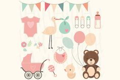 Check out Baby Shower Clip Art by YenzArtHaut on Creative Market
