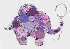 BABY ELEPHANT-4 COLORS 5x7 Button Art Button Artwork Button