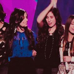 Camren // Camila Cabello and Lauren Jauregui // X Factor {GIF}