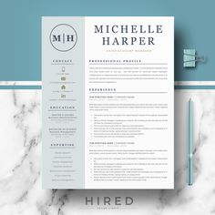 Professional & Modern Resume / CV Template for Word and Pages Modern Resume Template, Cv Template, Resume Templates, Templates Free, Microsoft Word 2007, Resume Cv, Resume Writing, Resume Tips, Resume Review