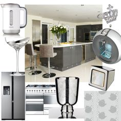 Steel and silver kitchen