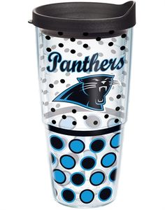 NFL®   Carolina Panthers   Polka Dot Wrap with Lid   Tumblers, Mugs, Cups   Tervis