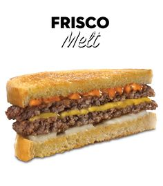 Copy cat steak and shake frisco melt.  Sauce: 2 tablespoons kraft thousand island dressing  1 tablespoon ketchup