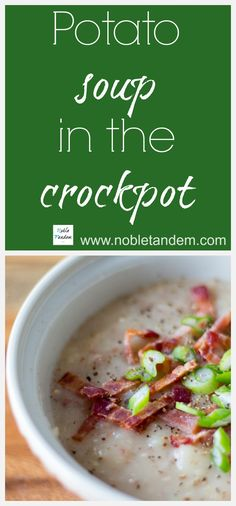 Potatoes soup in the slow cooker (version anglaise )