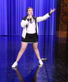 "Watch Lena Dunham Lip Sync Battle With Jimmy Fallon | Actress Lena Dunham sings Queen's ""Fat Bottomed Girls"" in a lip sync battle with Jimmy Fallon on The Tonight Show. #refinery29 http://www.refinery29.com/2015/06/89129/lena-dunham-jimmy-fallon-lip-sync-battle-fat-bottomed-girls"