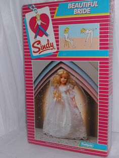 Rare Vintage Pedigree Sindy Boxed 1983 Brunette Beautiful Bride NRFB 42018 Mint | eBay