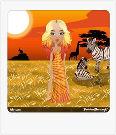 Sunrise Gown Fashion Designer Game, Game Design, Safari, Disney Characters, Fictional Characters, Sunrise, Gown, African, Posts