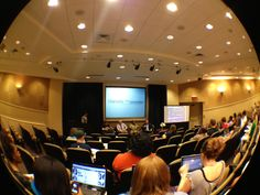 One of the COMM 360 panels for Charlotte and the Convention at Queens University.