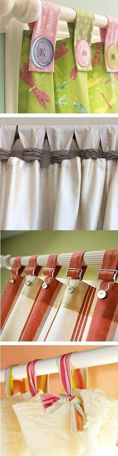 Glorious Make Rod Pocket Curtains Ideas. Enchanting Make Rod Pocket Curtains Ideas. No Sew Curtains, Rod Pocket Curtains, Curtains With Blinds, Valances, Curtain Patterns, Curtain Designs, Window Coverings, Window Treatments, Rideaux Design