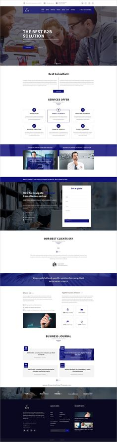 b2b is a #PSD template suitable for Creative #Business company, #b2b company, Finance Services or Corporate firms website with 4 homepage layouts and 17 organized PSD pages download now➩  https://themeforest.net/item/business-consulting-finance-corporate-template/18672070?ref=Datasata