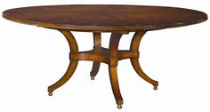 Acquisitions Round Dining Table by Henredon