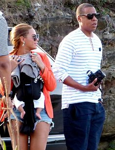 Beyonce, Jay-Z, and Blue Ivy Out And About