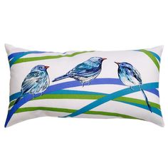 Shop allen + roth Multicolor UV-Protected Rectangular Outdoor Decorative Lumbar Pillow at Lowes.com