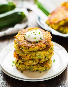 An easy recipe for zucchini potato fritters with cheese. Perfectly crispy and a great way to get even picky eaters to eat their veggies!
