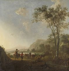 Aelbert Cuyp, Landscape with herdsman and cattle