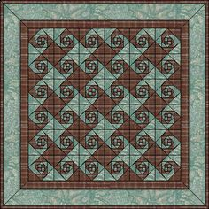 2003 - Snail Trail Block - looks elaborate, but is made of triangles