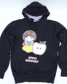 YUNY Women Hood Pineapple Print Simple Pullover Long-Sleeve Sweatshirts Black XS