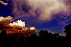 A Rainbow #nature #photoshop #overexposed #contrast #color #rainbow #photography
