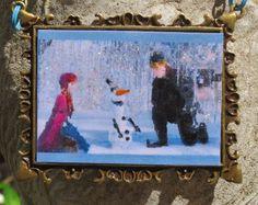 Frozen Friends Winter Wonderland Embellished Picture Frame Ornament