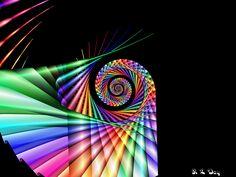 Fractal spiral abstract