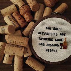 Wine cross stitch