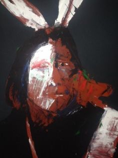 Untitled Portrait of an Indian 1970s 80x60 by Fritz Scholder