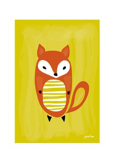 Baby Fox  Art Print Animal Illustration Children by dekanimal, $18.00