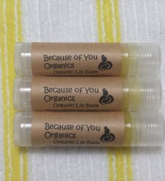 Organic lip balm by BecauseOfYouOrganics on Etsy, $2.99 Donating all natural lip balms for the FFCS swag bags! https://www.etsy.com/shop/BecauseOfYouOrganics
