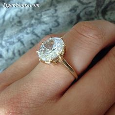 4 carat (9x11), 14k solid yellow gold, oval cut solitaire ring. 😍 This ring can be made in sterling silver, 14k white or yellow gold. ✨ Shop now at TigerGems.com ✨