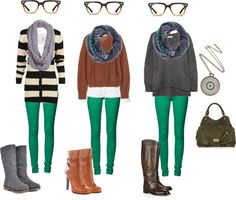"""Green skinny jeans ideas"" by kamosora on Polyvore"