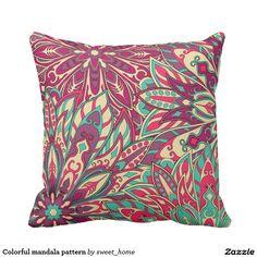 Colorful mandala pattern throw pillowhttp://www.zazzle.com/colorful_mandala_pattern_throw_pillow-189048576504661326?CMPN=shareicon&lang=en&social=true&rf=238588924226571373&view=113986468537702901