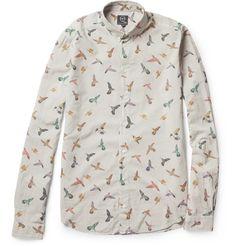 McQ Alexander McQueenHummingbird-Print Cotton Shirt MR PORTER