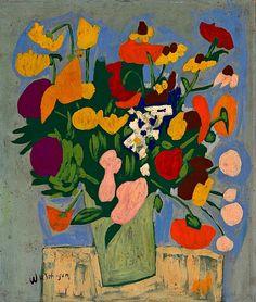 William H. Johnson  Flowers  1944-45    TumbleOn)