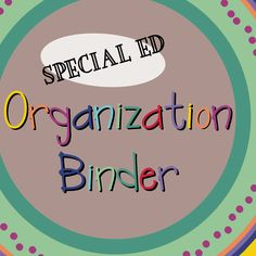 Special Ed. binder inserts- Free!