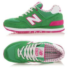 Women New Balance 574 NB574 Shoes Hot Sale Shoes Green Pink|only US$55.00 - follow me to pick up couopons.