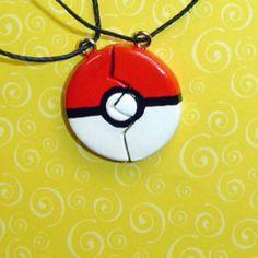 Pokemon BFF, BF/GF necklaces. From YellerCrakka on Etsy