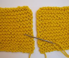 Today we will learn how to knit invisible seams in garter stitch but on the opposite sides. You can use this new technique on all your designs.