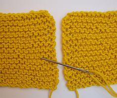 Salut knitters !Aujourd'hui, nous allons apprendre à tricoter des points mousses invisibles sur les côtés opposés.Vous pouvez utiliser cette nouvelle technique sur tous vos modèles de WAK lorsque vous souhaitez assembler différentes parties d'un pull par exemple. Ce tutoriel est très utile car il permet de cacher la couture entre le devant et le derrière de votre pull. On peut même le faire les yeux fermés. Commençons !1. Mettez les deux tricots face-à-face ensemble, de sorte à ce que les…