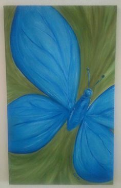 Butterfly. Oil on canvas 30x50 cm.