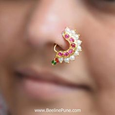 Trendy Wedding Rings For Bride Set Stones Ideas Nath Nose Ring, Nose Ring Jewelry, Silver Nose Ring, Gold Rings Jewelry, Nose Stud, Hair Jewelry, Wedding Jewelry, Fashion Jewelry, Wedding Rings
