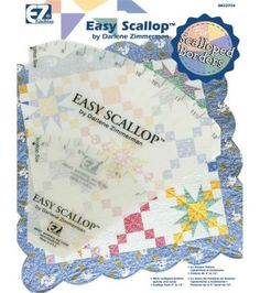 Wrights Easy Scallop Quilting RulerWrights Easy Scallop Quilting Ruler,