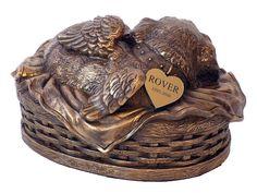 Angel Dog | Angel Dog Cremation Urn Antique Bronze