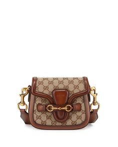 Gucci Lady Web Small GG Canvas Shoulder Bag, Brown, Women's, Brown/Red/Green