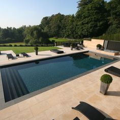 Natural Coral Stone Pool Copings Design Ideas, Pictures, Remodel and Decor