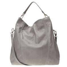 Large soft leather convertible hobo handbag with back exposed zipper pocket.  Top zip closure.  Detachable 15 cross body strap.  Inside zipper and slip pockets.  Measures approximately 17.5 L x 17 H x 6 D with 5 drop.  This style is available exclusively @ Nine West Stores  ninewest.com.